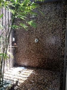 outdoor rainshower at Spa Delmar in Movenpick Hotel Mactan Island in Cebu Philippines