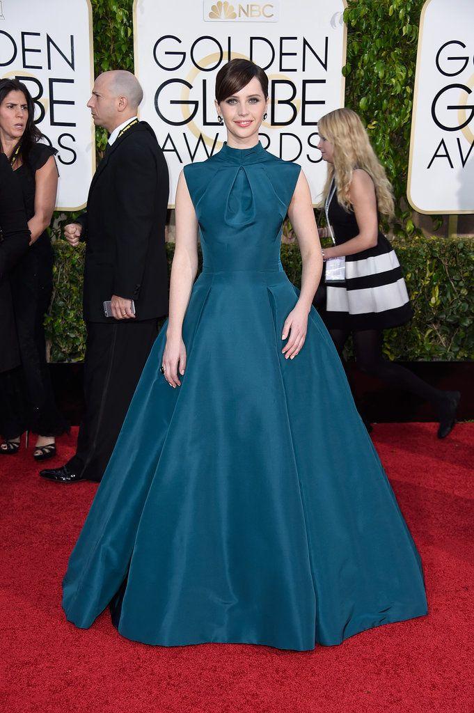 2015 Golden Globes, Felicity Jones in Dior