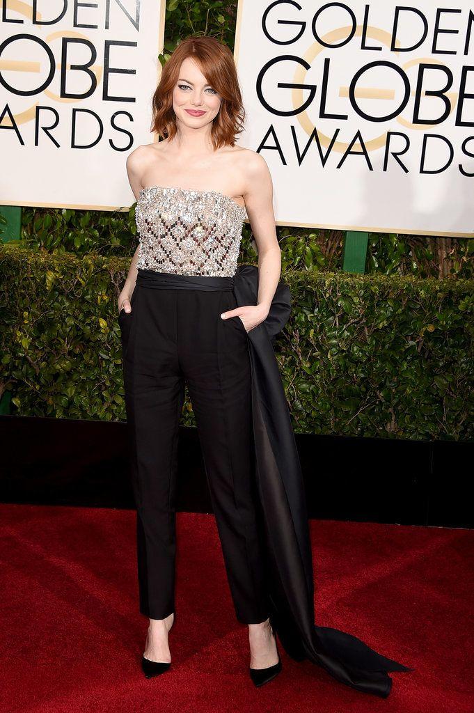 2015 Golden Globes, Emma Stone in Lanvin