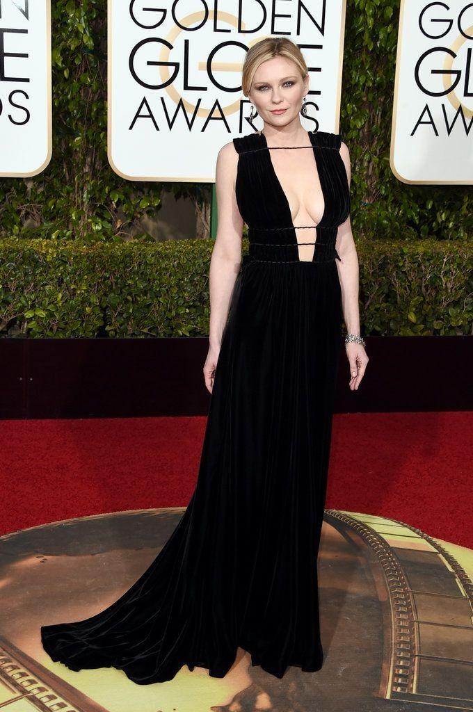 Kirsten Dunst in Valentino, Golden Globes 2016