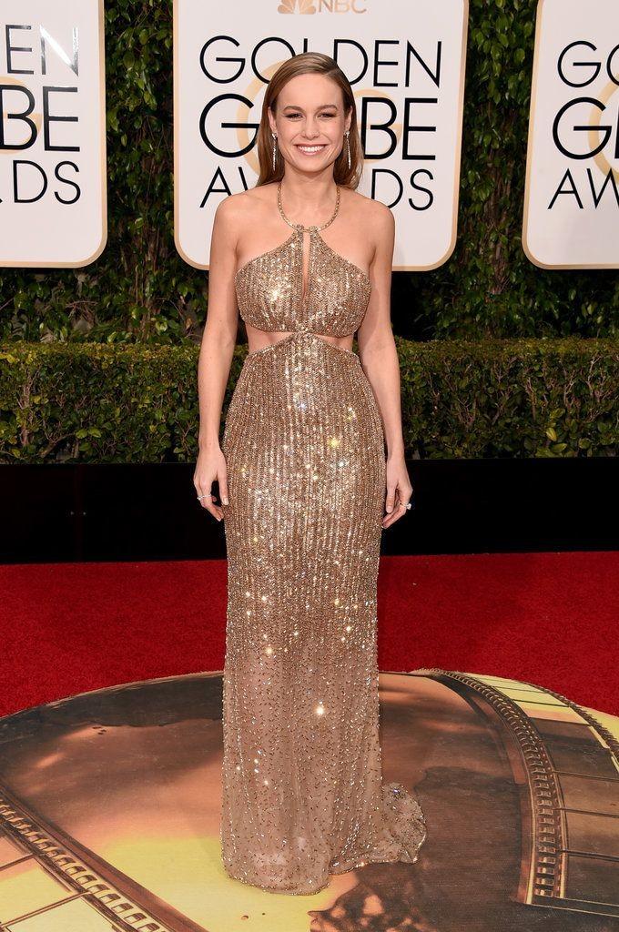 Brie Larson in Calvin Klein, Golden Globes 2016