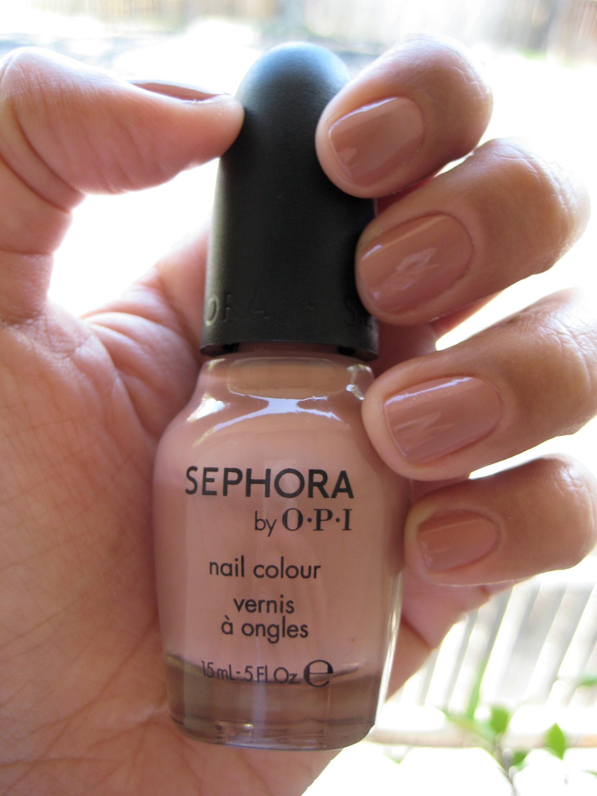 Jenn wearing OPI Leotard Optional nail polish