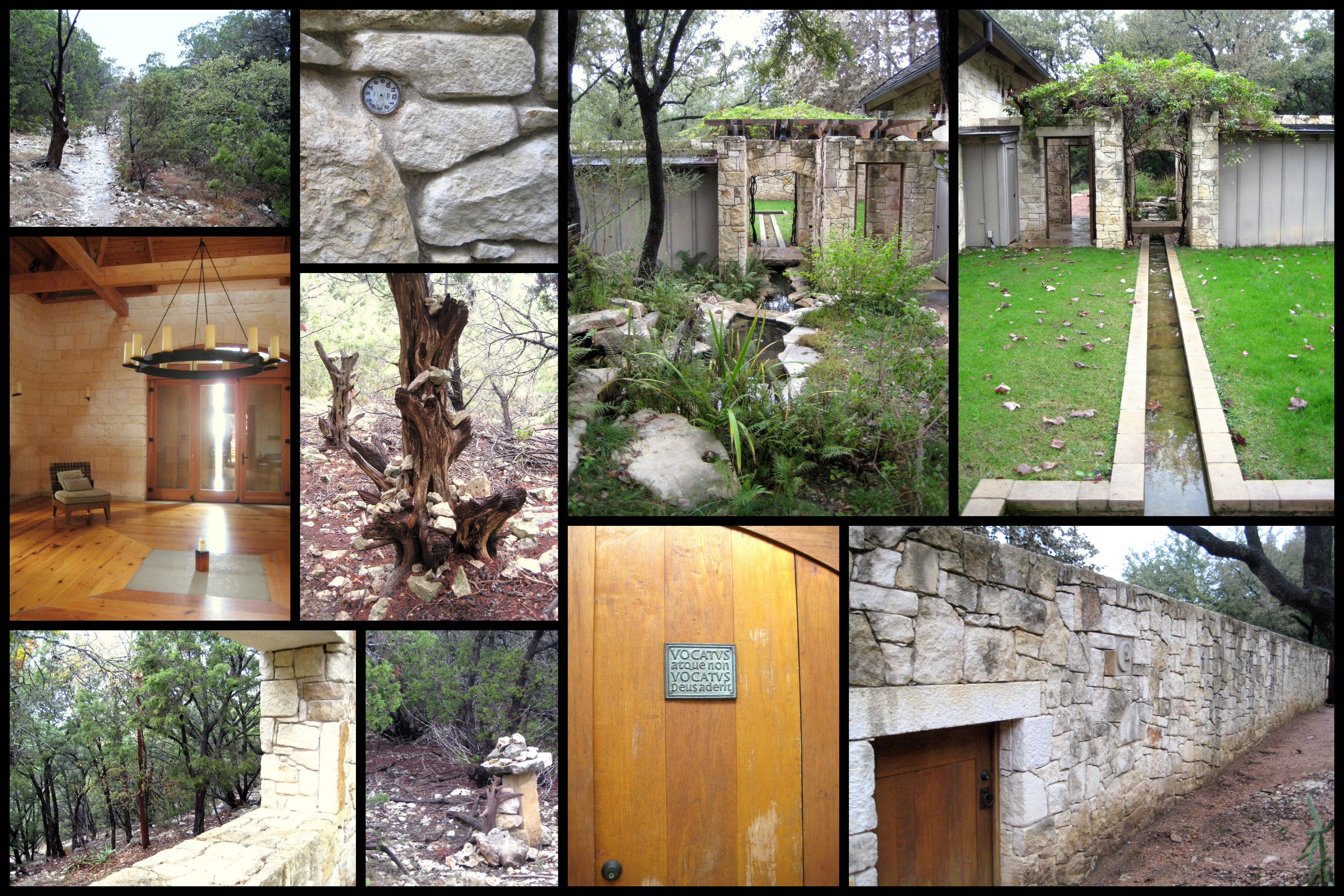 collage of ecology hike on western rim at Travaasa Austin